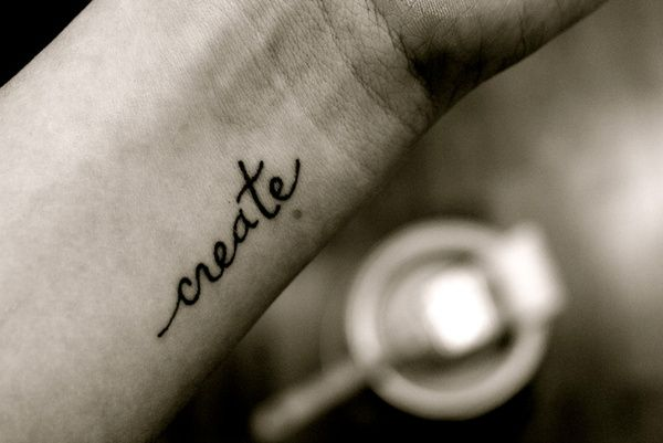 getting a tattoo #create