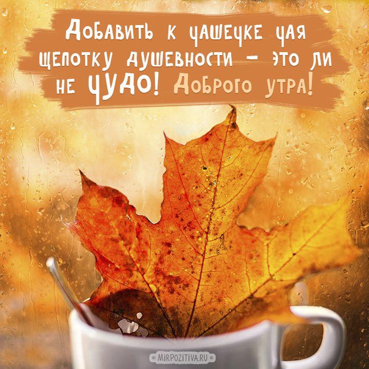 Осенние картинки со стихами доброе утро