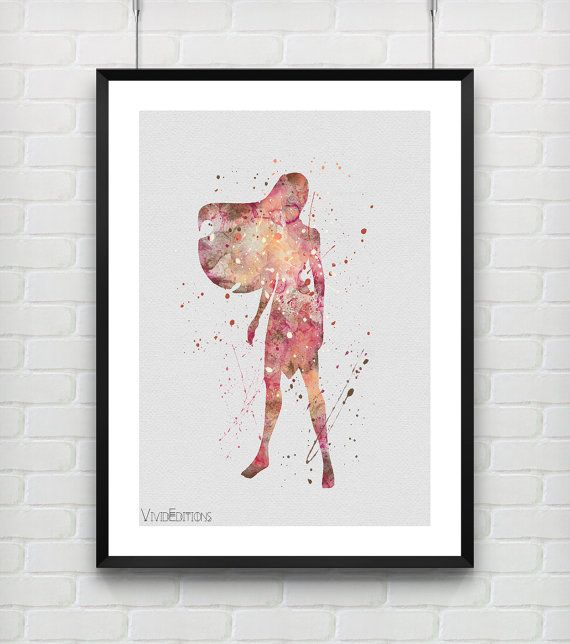 Pocahontas Disney Watercolor Art Print Baby Girl Nursery Decor by VIVIDEDITIONS