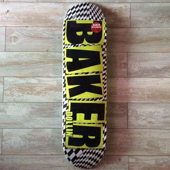 """Baker Dustin Dollin Pro Skateboard Deck Baker Skateboards Dustin Dollin Pro Skateboard Deck. NWT. 8.25"""". Still in plastic. Baker Skateboards Other"""