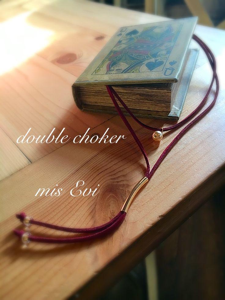Double choker handmade necklace