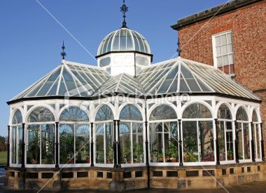 victorian greenhouse Royalty Free Stock Photo