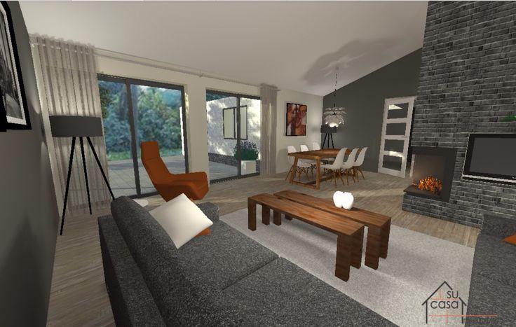 Virtuele restyling voor de verkoop van een woning.