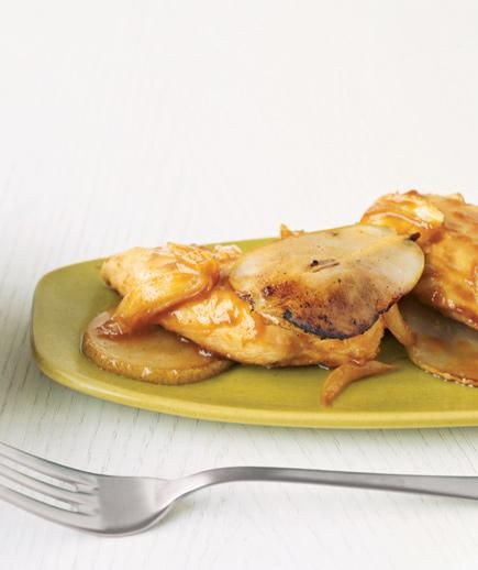 Orange-Glazed Chicken With Pears recipe