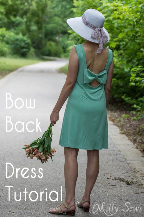Bow Back Dress Tutorial - http://mellysews.com