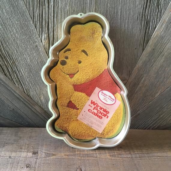 Vintage Pooh Kuchenform {Vintage Wilton Aluminium Kuchenform} Gold Walt Disney Productions Geburtstag   – Products