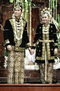 13. Traditional Cloth of Central Java Province.   Central Javanese traditional indigenous clothing also called Kebaya.