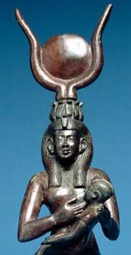 Magic Giver of Life- Isis (as Hathor) and Horus