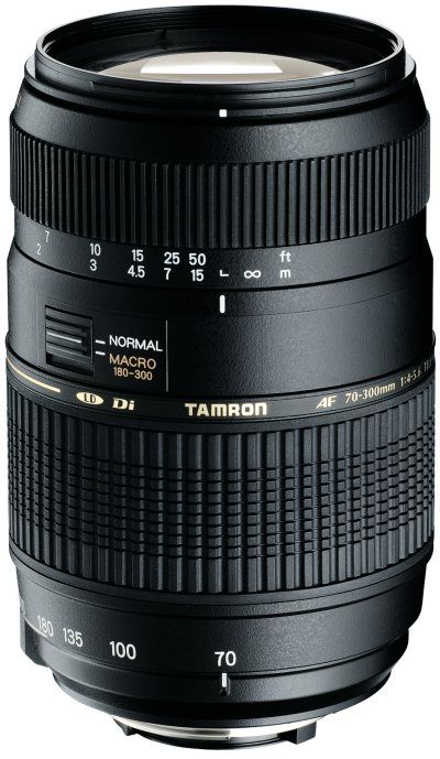 Objectif Tamron 70-300mm f4-5.6 AF Di LD Macro 1/2 Canon pour Canon EOS 1100D