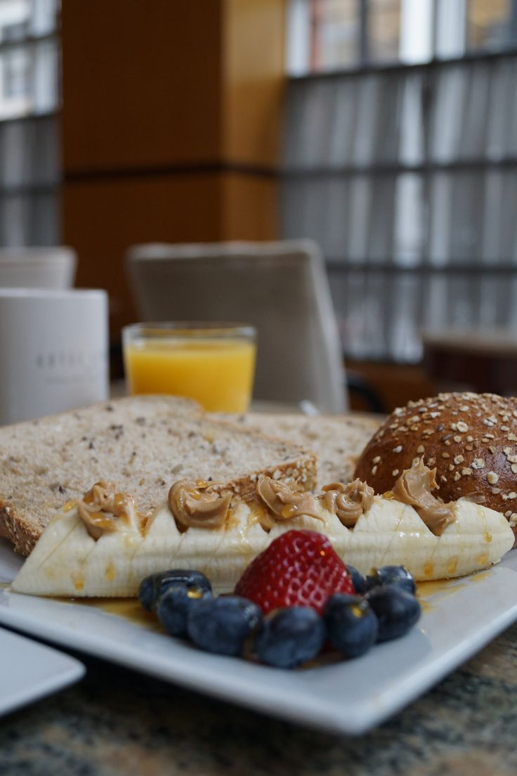 A Healthy Breakfast Topped Off With Good Cup Of Coffee At The Hotel Giraffe Is