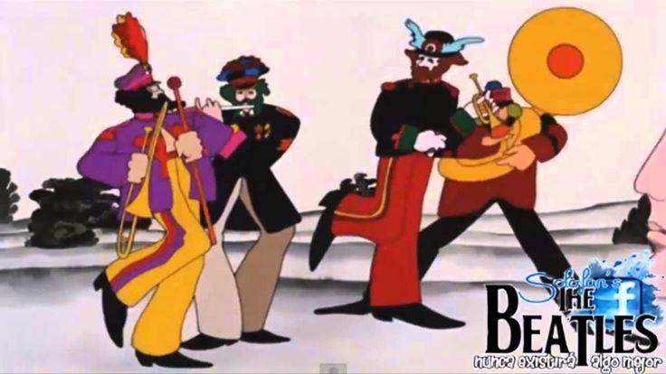 The Beatles  - Yellow Submarine Video from 1968 - Movie HD - Lyrics