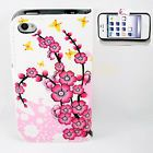 Cherry Blossoms Printed Stand Wallet Leather Cover Case For Apple iPhone 4 4S 4G