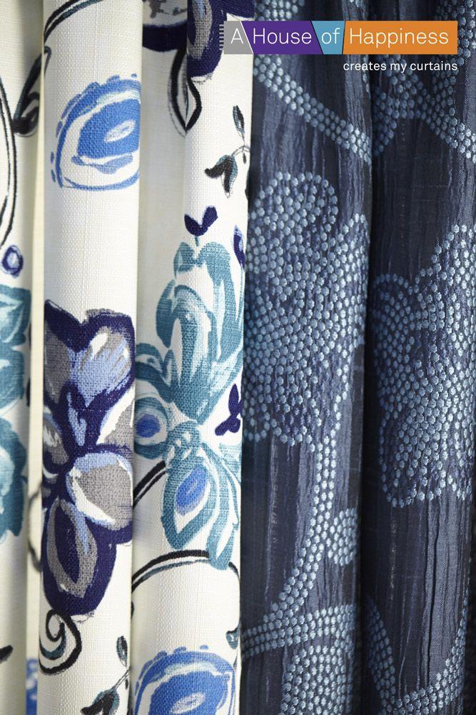 Levendig blauw voor een fris en gedessineerd interieur #gordijnen #curtains #gardinen