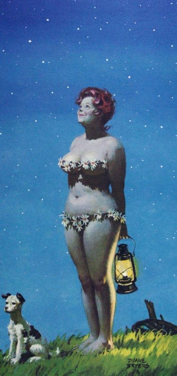 À partir des années 50, jusqu'aux années 80, la silhouette d'Hilda ne laissera personne indifférente. Fruit de l'imagination du dessinateur Duane Bryers, elle était la première pin-up aux fo...