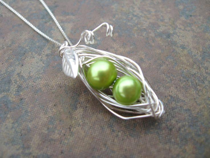 how to make a wire pea pod pendant (long wire method). variations here: http://www.beadingdaily.com/media/p/92403.aspx here: http://www.etsy.com/listing/71890856/pea-pod-necklace-copper-wire-wrapped  here: http://www.etsy.com/listing/87741013/three-peas-in-a-pod-pea-pod-peapod here: http://www.etsy.com/listing/61637840/pea-pod-necklace-tutorial-pdf and here: http://www.positivelysplendid.com/2010/06/fashionable-use-for-craft-wire.html