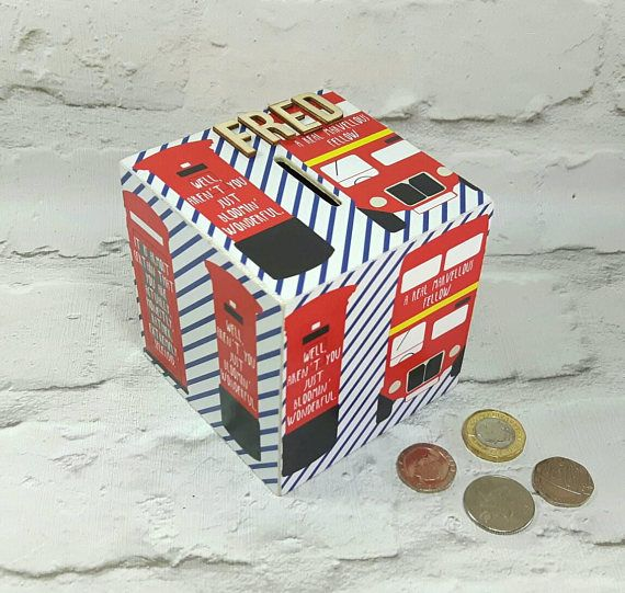 25 unique personalised money box ideas on pinterest childrens hey i found this really awesome etsy listing at https london bus personalised negle Images