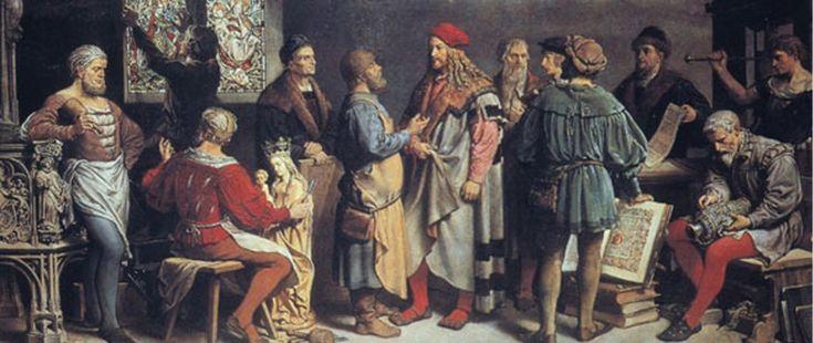 Фридрих Вандерер. Известные художники времени Дюрера. масло, c. 1901, Государственный музей. Нюрнберг.