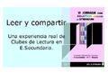 Leer y compartir: Los clubes de lectura en Educación Secundaria. VI Jornadas sobre Bibliotecas Escolares de Extremadura (presentación)