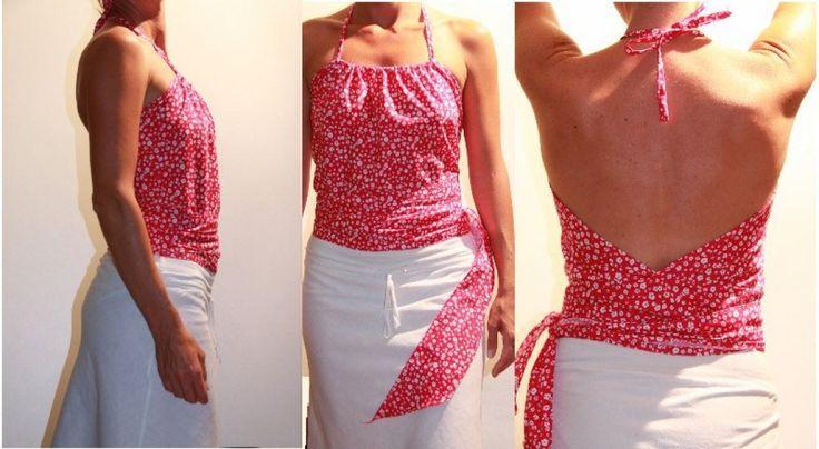 patron de couture gratuit, couture facile pour apprendre à coudre un joli dos nu
