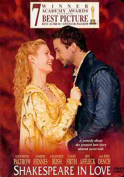 """""""Shakespeare in Love"""" """"Best picture"""" 1998."""