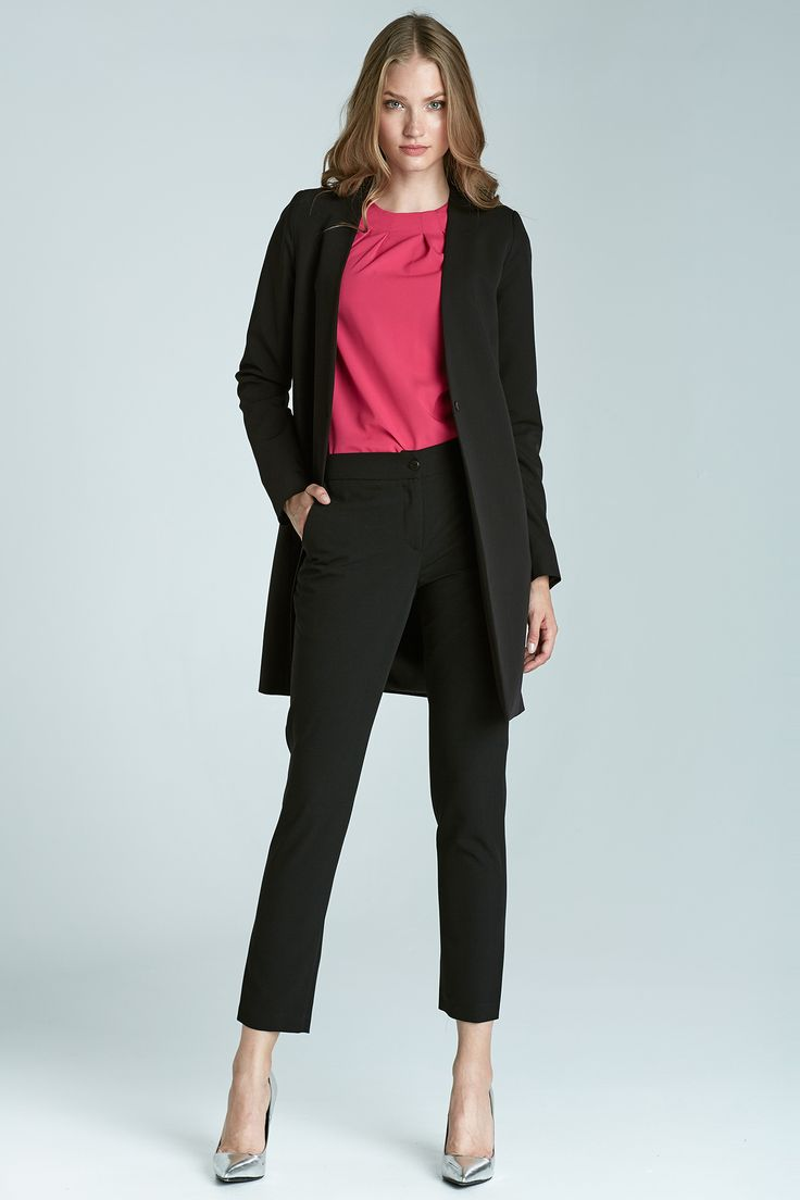 Czarne cygaretki damskie o eleganckim kroju