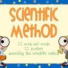 Scientific Method Posters  Word Wall Word Pack: This pack consists of 11 word wall words and 11 scientific method posters. -Scientific Method ...
