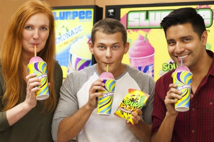 7-Eleven and Sour Patch Kids partner for New Sour Patch Watermelon flavored Slurpee.