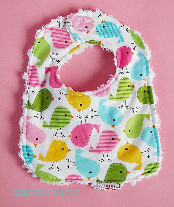 Easter Bib Infant Chenille Great Gift Spring Matching Easter Peep on Etsy, $12.00