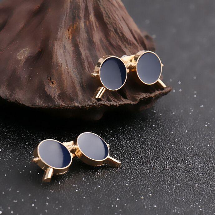 1 pair Fashion Korean Gold Plated cute Glasses Brooch Lapel Pin Men Brooch Broches Mujer Vintage Brooches For Women