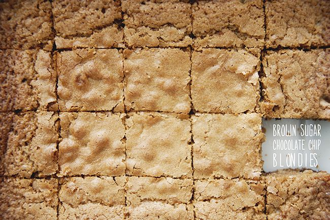 Brown Sugar Chocolate Chip Blondies