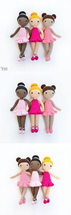 Crochet Pattern - Tracey the Ballerina Doll - Amigurumi
