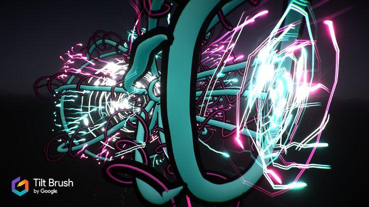 VR Tilt Brush drawing from Adam Hofman. || Virtual Reality