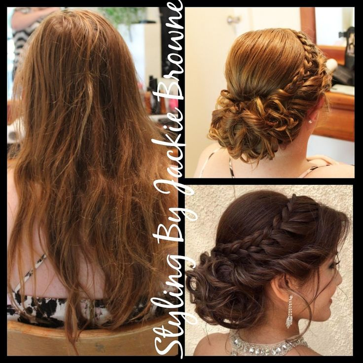 Look i created fro. The pic my bride gave me curly braided upstyle