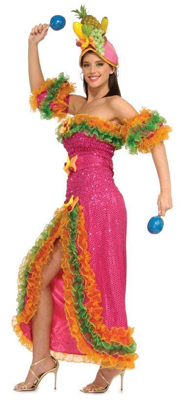 Super Deluxe Carmen Miranda Costume - Sexy Costumes