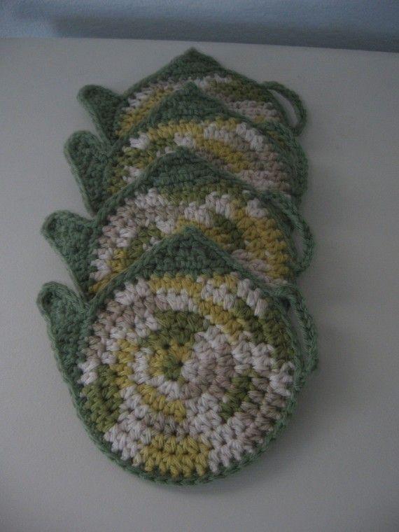 Coaster Pattern / Crochet TEA POT COASTER Pattern. £1.26