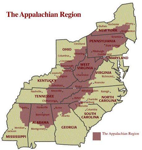 Foxfire Appalachian Medicine - Google Search - only one state falls totally when the appalachian region...