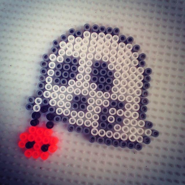 Ghost Halloween hama beads by hadavedre