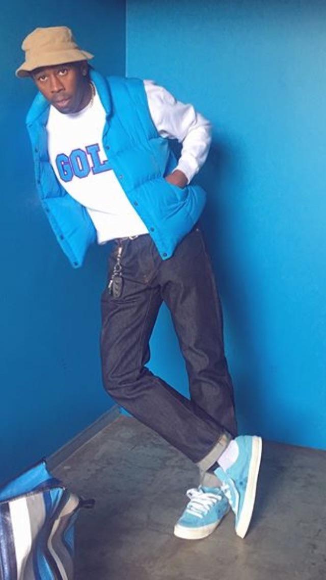 Tyler the creator wearing the new blue Golf Le Fleurs http   ift. 9cd0e26cf6d