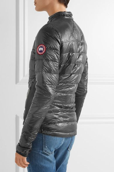 Canada Goose - Hybridge Lite Jersey-paneled Quilted Shell Down Jacket - Black - x large