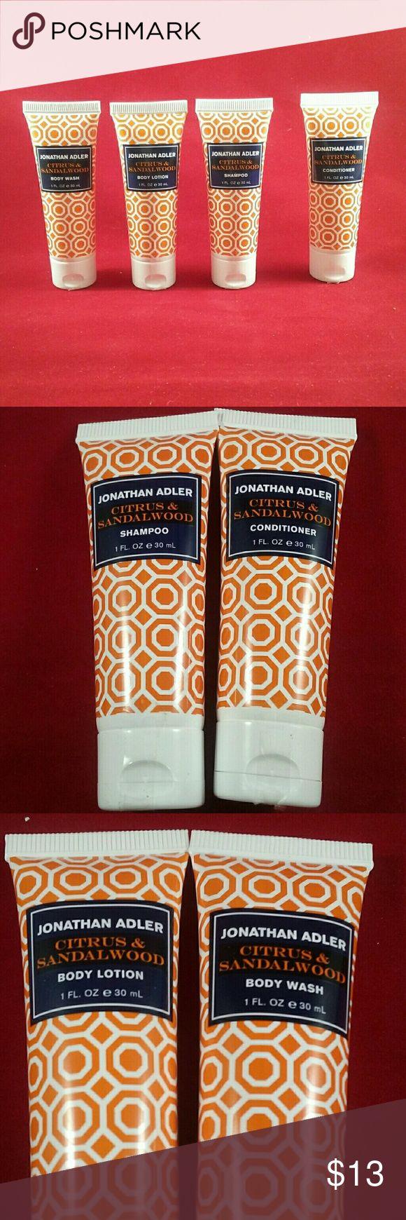 Jonathan Adler Travel Sampler Citrus & Sandalwood Scent  Four 1-oz. tubes Perfect sizes for TSA checkpoint! Jonathan Adler Other