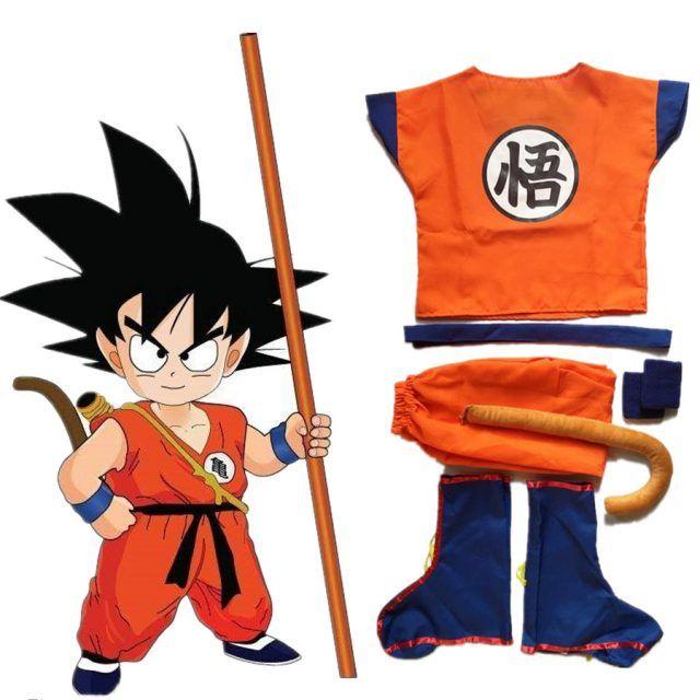 Dragon Ball Z Son Goku Cosplay Niño Disfraz De Goku Halloween Niños Trajes Para Niños