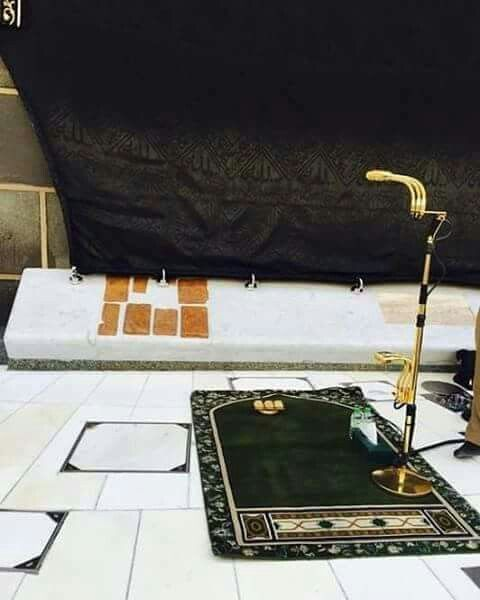 The immam's spot, ahead of  salah #kabah # Mecca