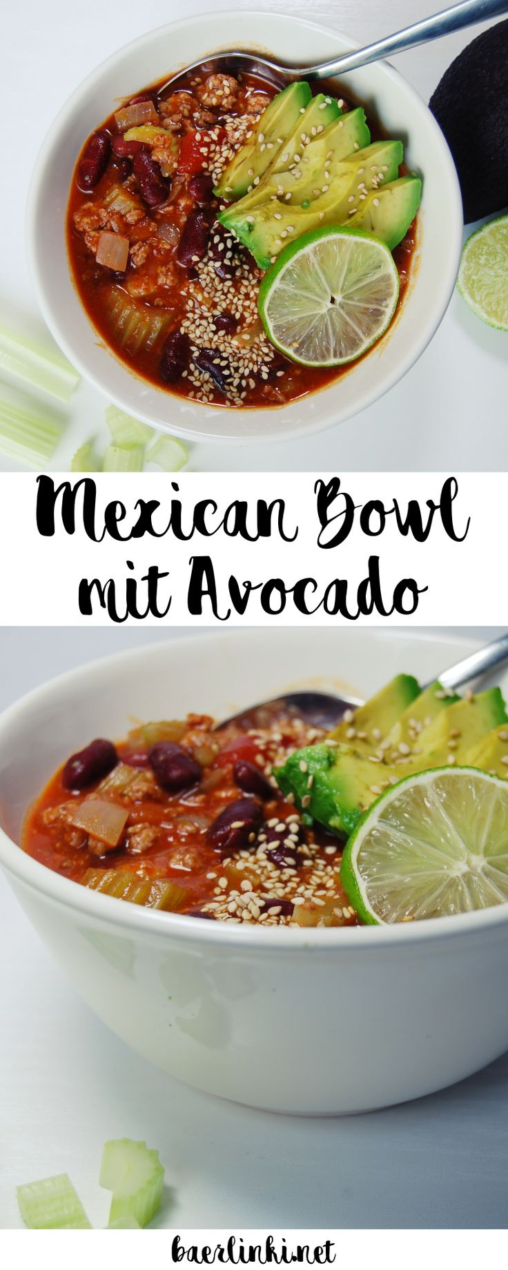 Schnell, einfach und lecker: Mein Rezept für eine Mexican Bowl mit Chili con Carne und Avocado! Yummy!
