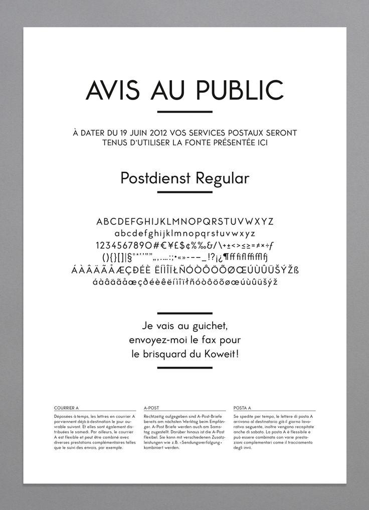 Yan Vuillème - Typeface, Postdienst Regular