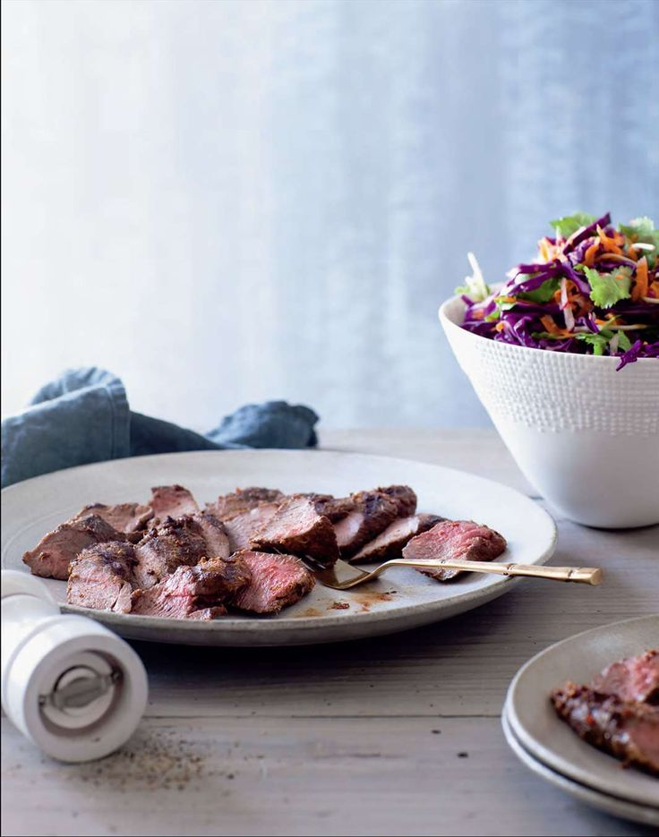 Red lamb backstraps with chilli coleslaw by Ian Thorpe from Cook for Your Life | Cooked