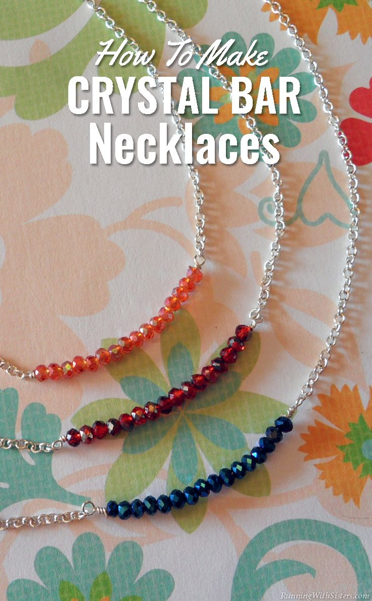 Crystal Bar Necklaces - DIY silver jewelry to make as gifts or keep for yourself!