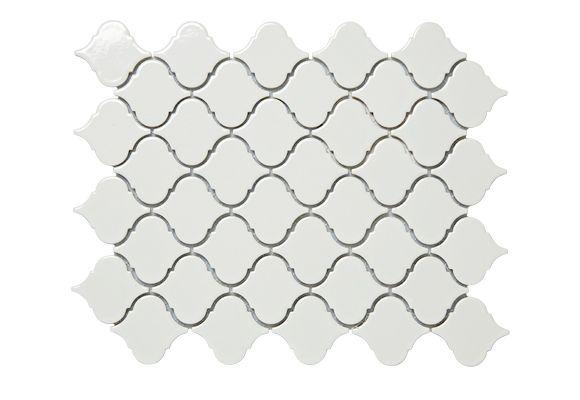 Real Living - Terrific tiles  Corabel Lantern (77622) tile in Gloss White, $110.50 a sq m, Academy Tiles.