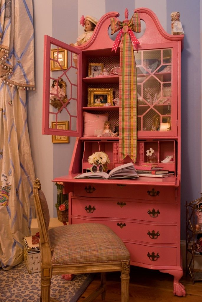 pink furniture for a girl room