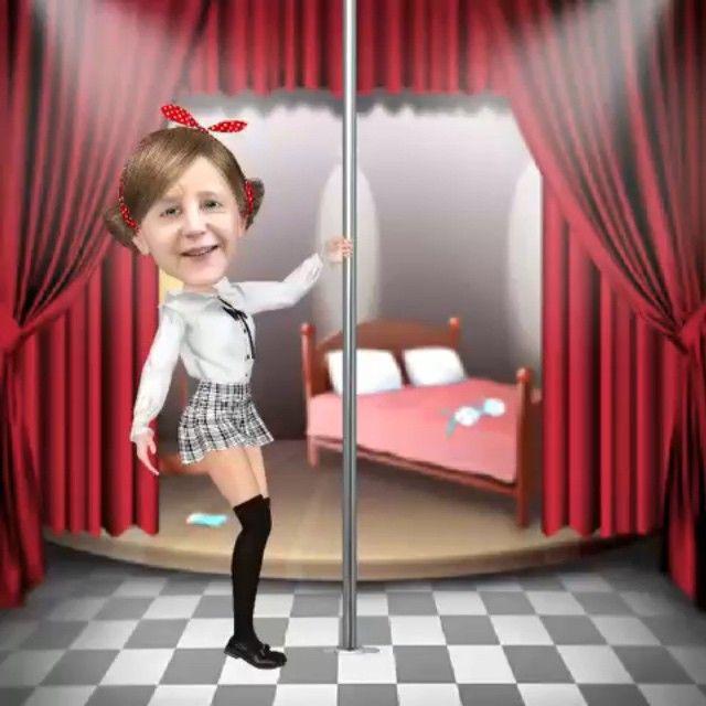 Angie Pooldance #myidol #angelamerkel