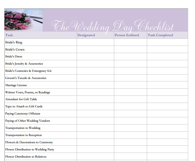 the wedding day checklist what every bride must have download it at